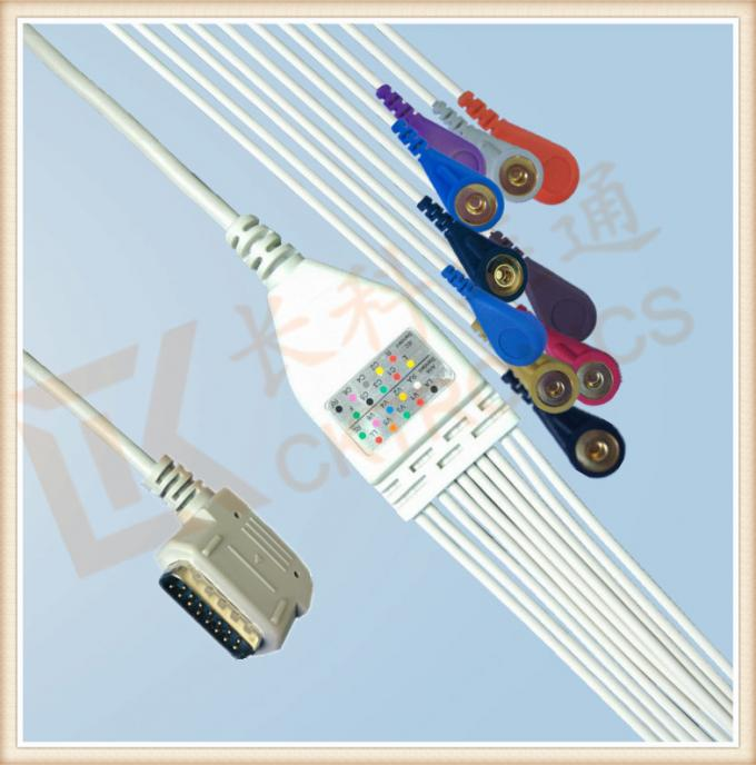 Kenz PC 109 Ecg Accessories Cable One Piece Ecg Cable 10 Leadwires Snap AHA