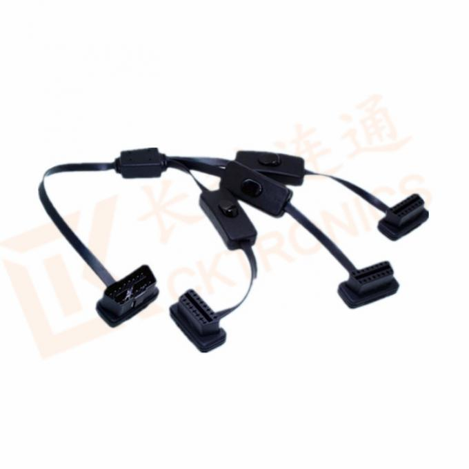 PVC Insulation Obd2 Cable Extension Male To Female Cable Durability