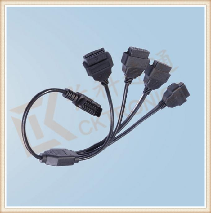 Durability PVC 16 Pin OBD Extension Cable Black CK-MF16Y04L