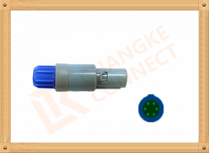 Plastic Male Plug Push Pull Connector 6 Pin Changke Over 15 Years