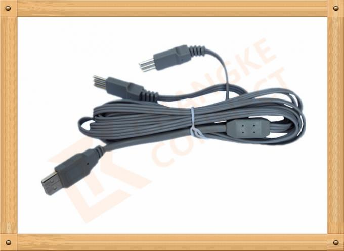 USB to 3 Pin Tens Unit Cables Y Type Medial Tens EMS Lead Wire