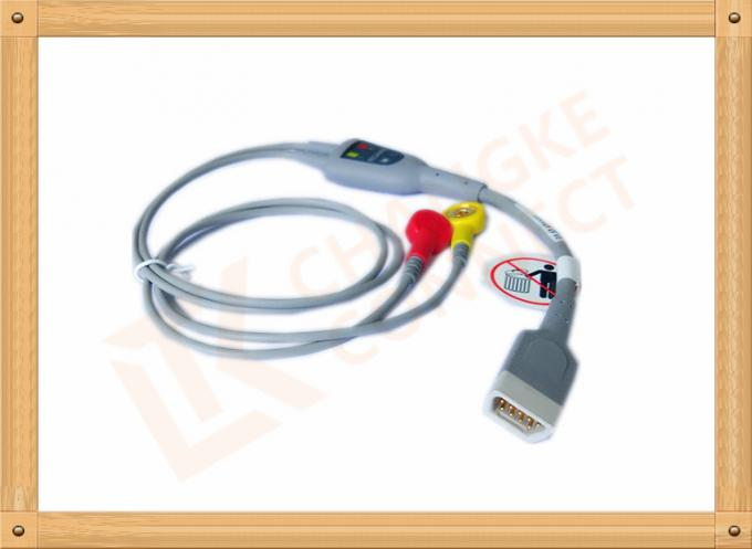 2 Lead Ecg Lead Cable FTC-3 DB9 Pin With Accurate Measurement , Non - Toxic