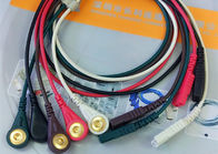 LL Style ECG Monitor Cable , 5 Leads Snap AHA Ecg Cables And Leadwires