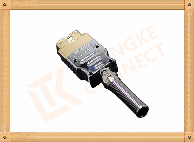 Golden Plated Metal 16 Pin Obd Connector J1962 OBD Male Connecor Housing Strain Relief