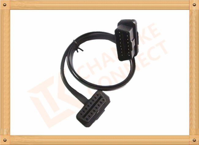 Custom 1-15M Automotive Flat OBD Obd Extension Cable 16 Pin Odb2 Extension Cable