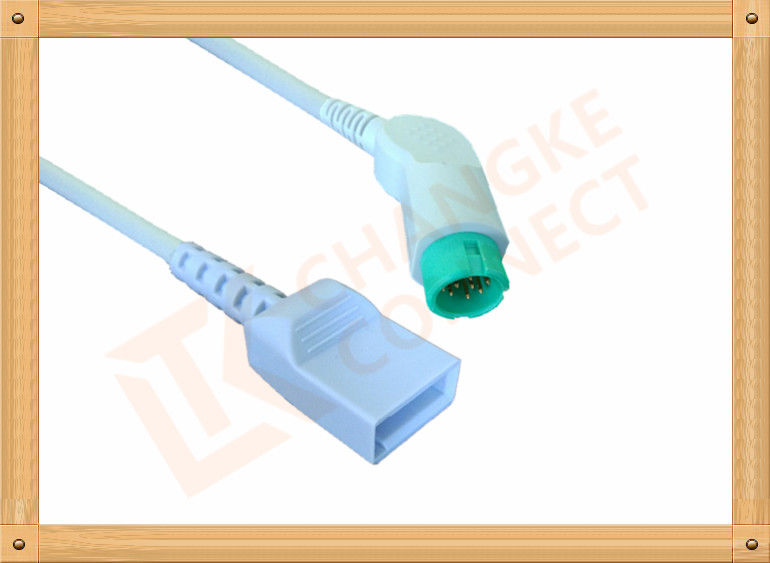 Flexibility 10 Pin IBP Cable Utah For Hellige 5th Generation Monitor