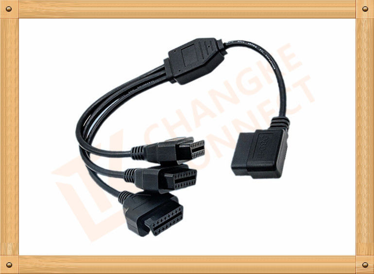 OBD 16 Pin obd2 extension cable Y Type with UL and Rohs standard CK-MF16Y03L