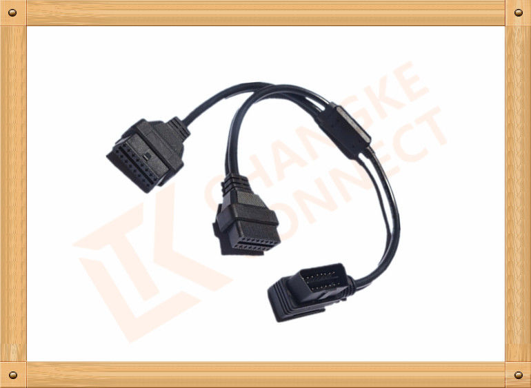OBD 16 Pin Automotive Extension Male To Female Cable Y Type CK-MF16Y02L