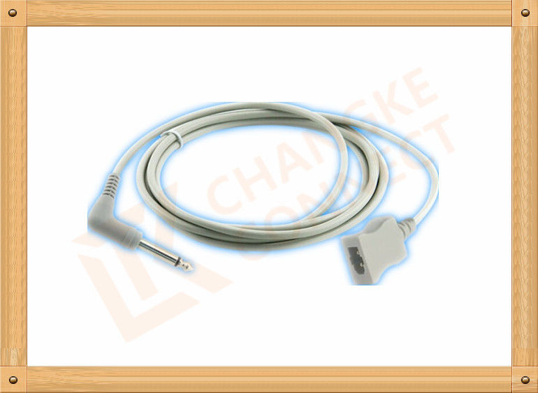 PVC Gray Medical Temperature Probe Adapter Cable YSI 400 Series