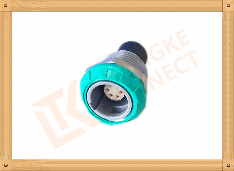 Medical 6 Pin Push Pull Connector Circular Self Latching System