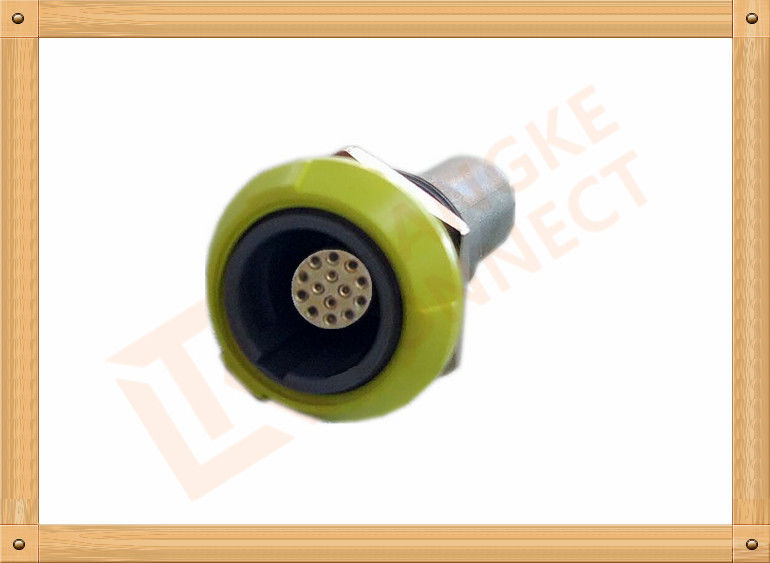 PSU 14 Pin Circular Push Pull Connector Plastic Female Connector