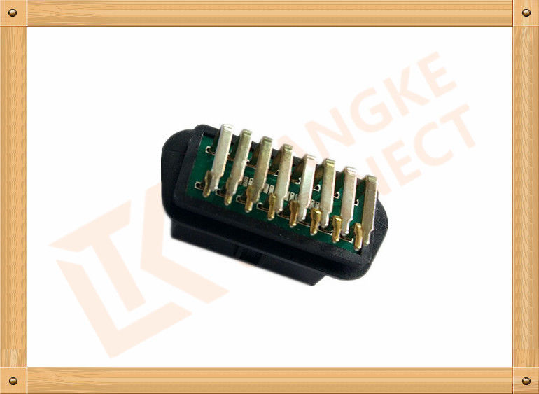 OEM 16 Pin Female Obd Ii Diagnostic Connector 90 Angle SOF006