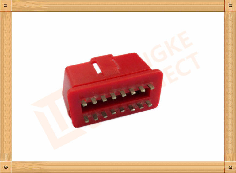 RED 16 Pin Obd Connector Replacement Obd Ii Connector CK-SOM002B