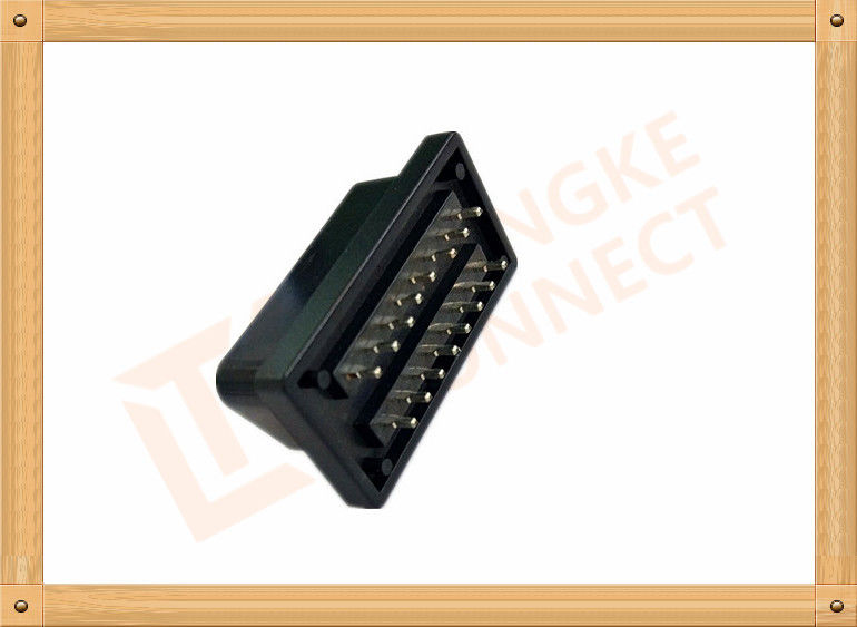 PVC Male Nickel Obd 16 Pin Connector SOM035A For Automotive