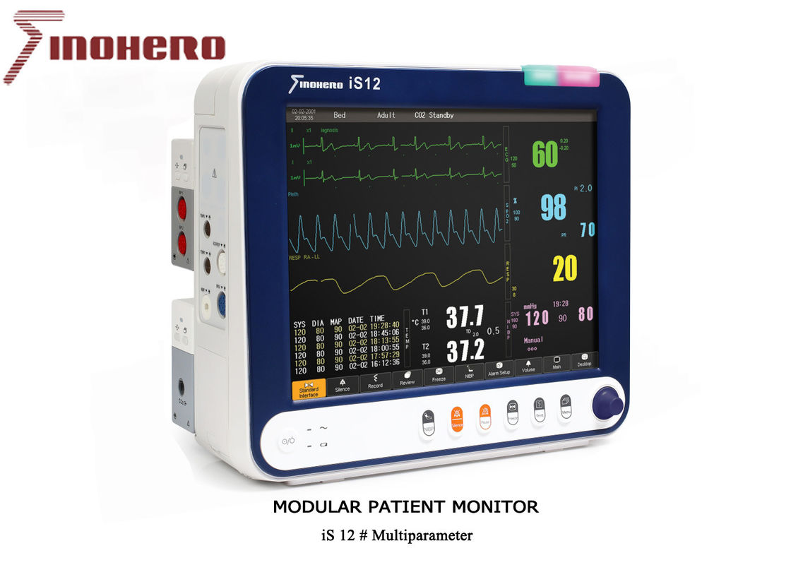IS12 Modular Patient Monitor Multiparameter Product With 12 Inch Touch Screen