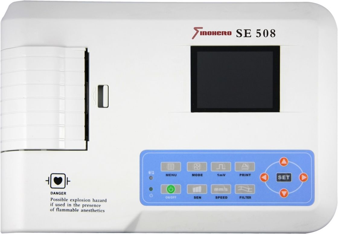 SE508 Portable ECG Machine Auto Measurement 12 Leads ECG Simultaneously Display