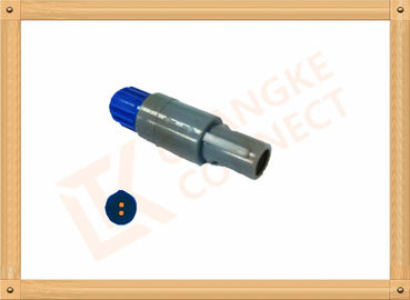 China 2 Pin Round Push Pull Circular Connectors With Plastic Shell factory