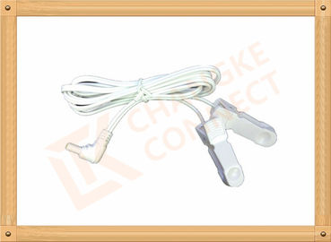 China Surgical DC 2.35mm Tens Unit Replacement Leads Wire To Clip 3m distributor