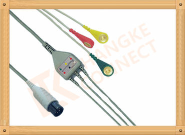 China Generic AAMI 6 Pin ECG Patient Cable 3 Leads Snap IEC For Abbott Medical factory
