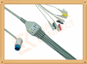 China Mindray PM5000 Patient 5 Lead Ecg Cable 12 Pin Ecg Lead Wires factory