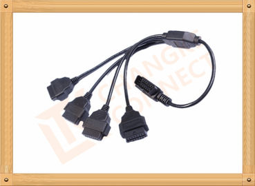 China Durability PVC 16 Pin OBD Extension Cable Black CK-MF16Y04L distributor