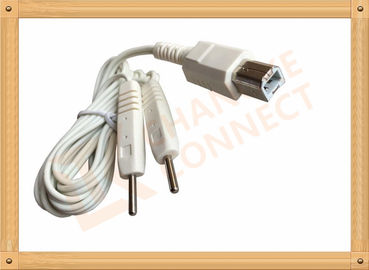China Square Plug Tens Unit Cables To 2 Pin Y Type Medial Tens EMS Heating Cable for monitor distributor