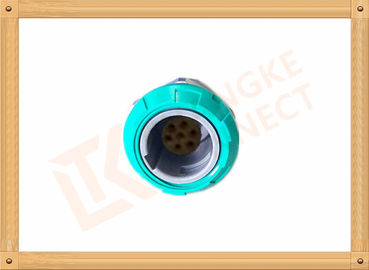 China 7 Pin Circular Plastic Push Pull Connector Adapter For Breathing Machine distributor