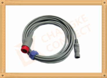 China IBP Adapter Cable B .Braun Invasive Blood Pressure Cable 12 Pin , UL And Rohs Standard distributor