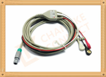 China Medical Hellige ECG Trunk Cable , ECG Snap Connector With TPU Material distributor