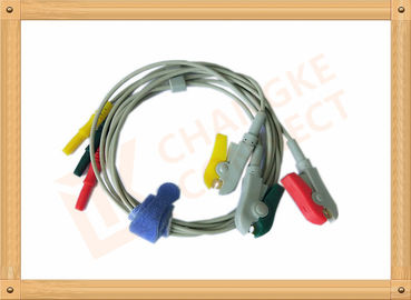 China 0.6m ECG Patient Cable Lead Wires Copper Conductor Material , Din Style distributor