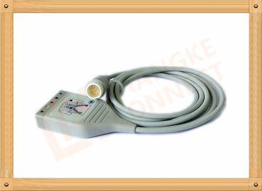 China 12 Pin Philips ECG Cables 5 Leads LL Stye AHA With Customized Length factory
