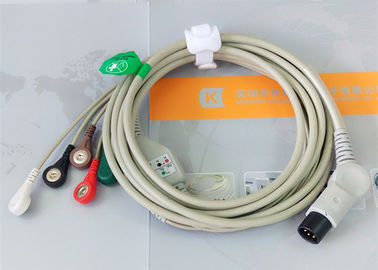 China TPU Material Patient Monitor Accessories One Piece ECG Cable Compatible M&B factory